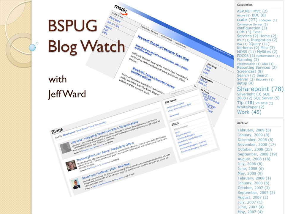 BSPUG Blog Watch with Jeff Ward