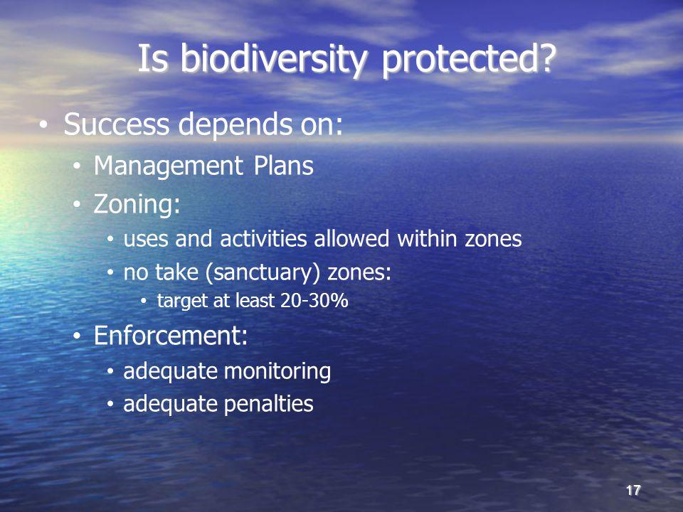 Is biodiversity protected.Is biodiversity protected.