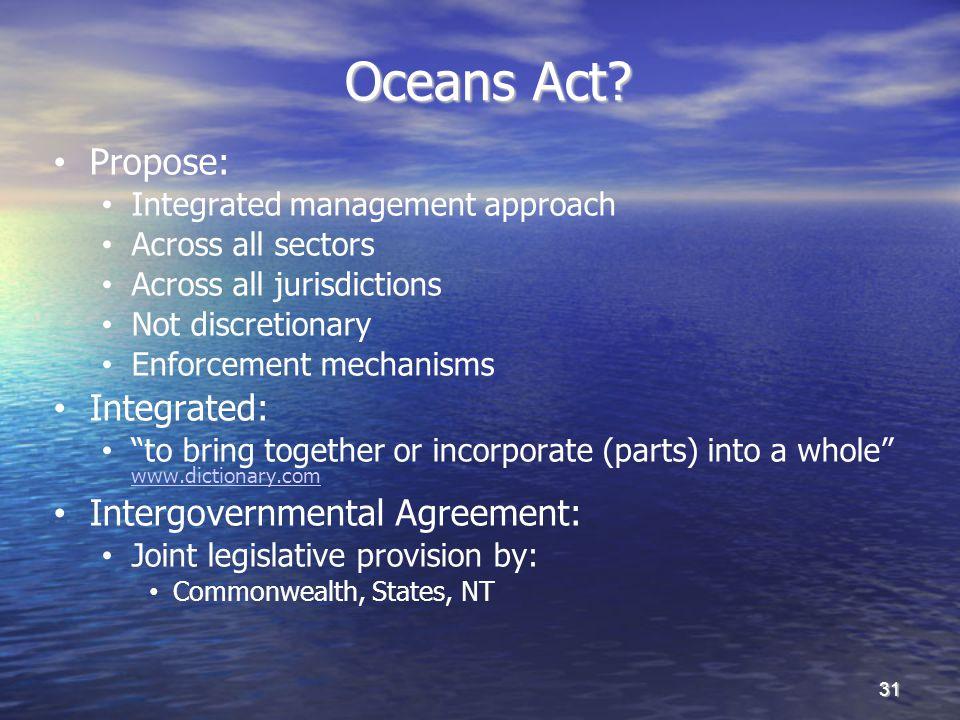 Oceans Act.Oceans Act.
