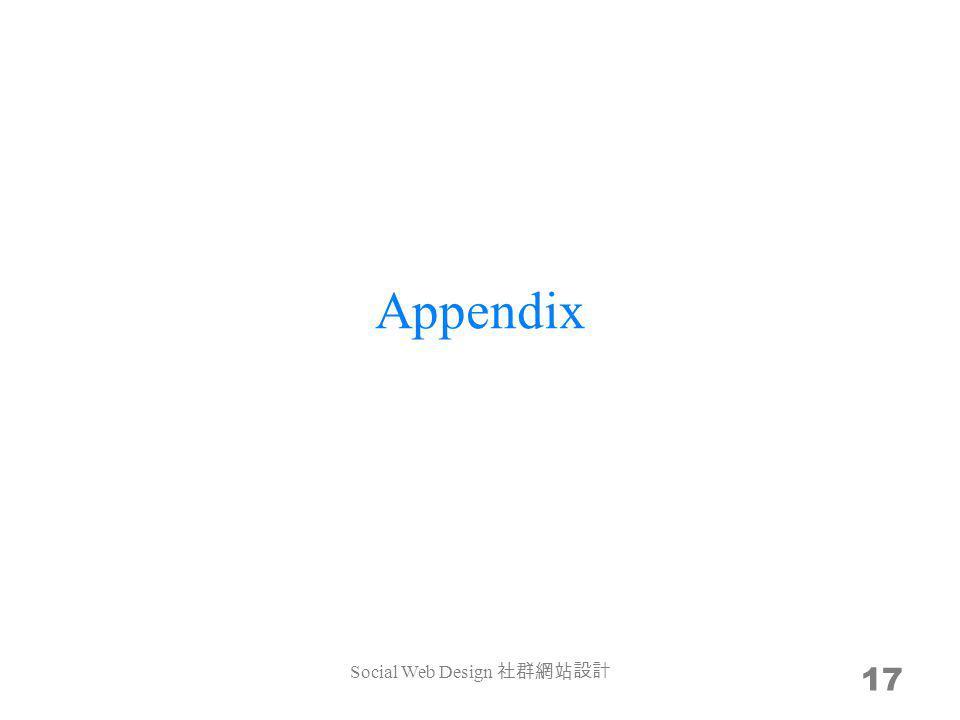 Appendix 17 Social Web Design