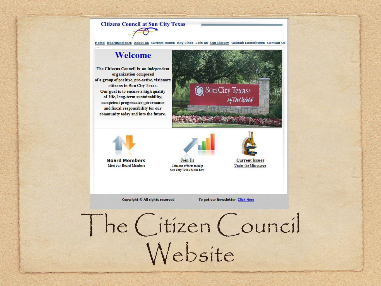 The Citizen Council Website