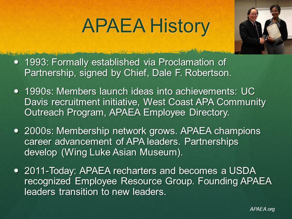 Diversity & Inclusion Leslie Weldon APAEA Executive Leadership Advisor Deputy Chief, National Forest System Deputy Chief, National Forest System APAEA.org