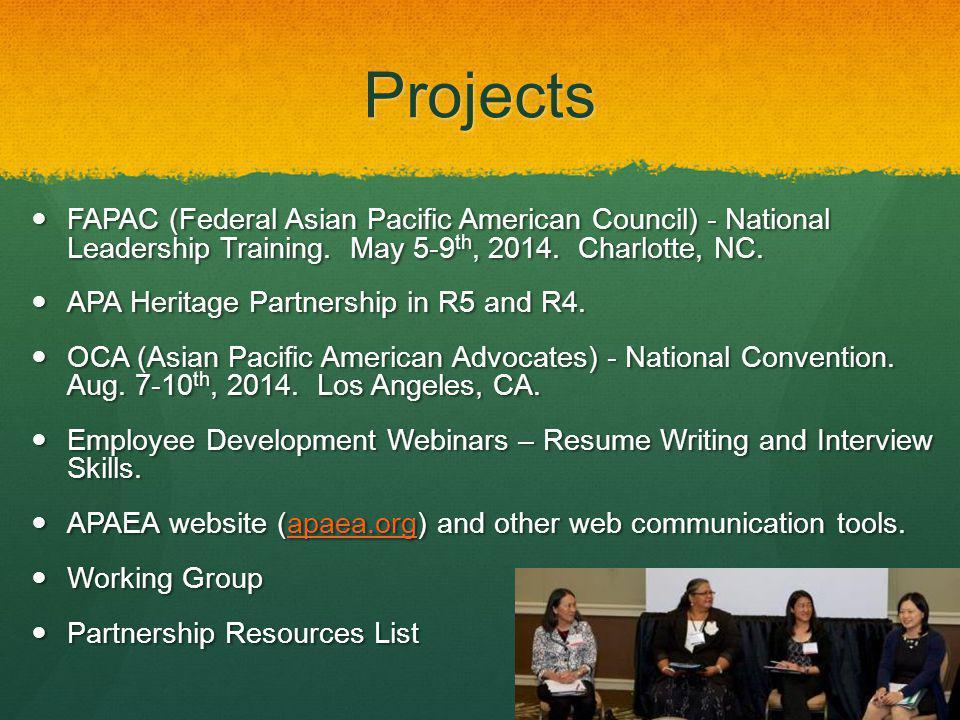 fapac.orgFAPAC National Leadership Training May 5-9, 2014 Charlotte, NC