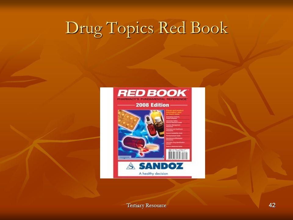 Drug Topics Red Book Tertiary Resource42