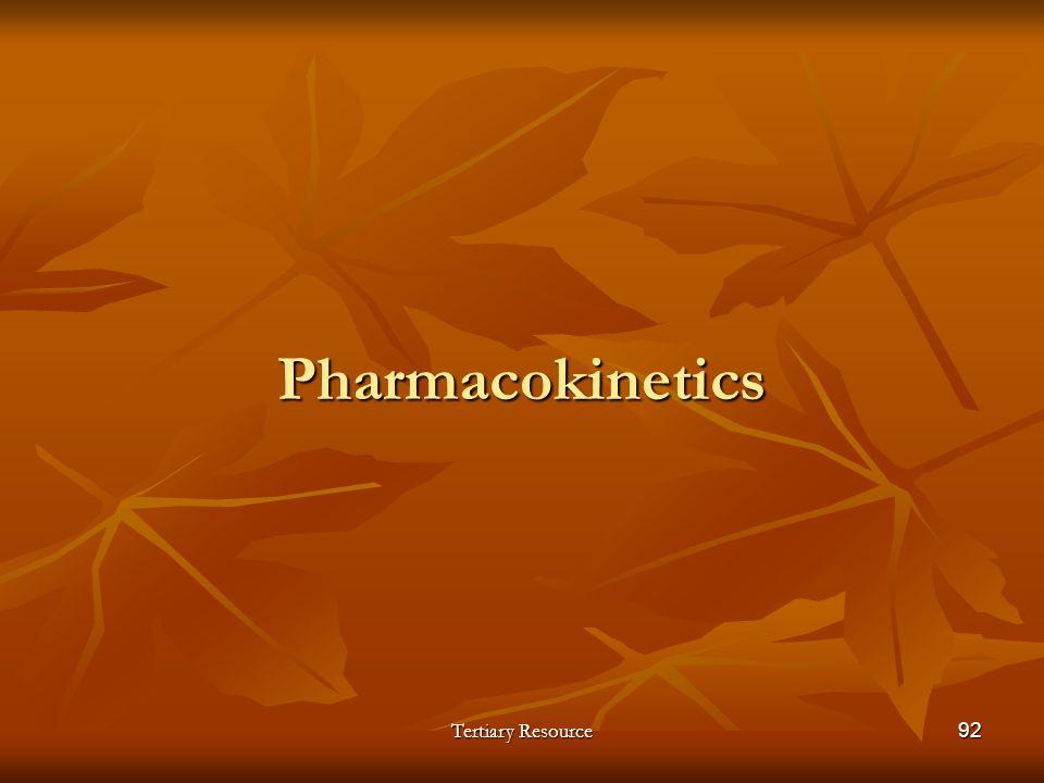 Tertiary Resource92 Pharmacokinetics