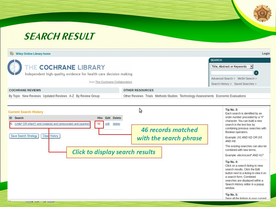 20 SEARCH RESULT 46 records matched with the search phrase Click to display search results