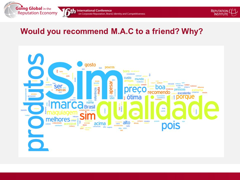 Would you recommend M.A.C to a friend? Why?