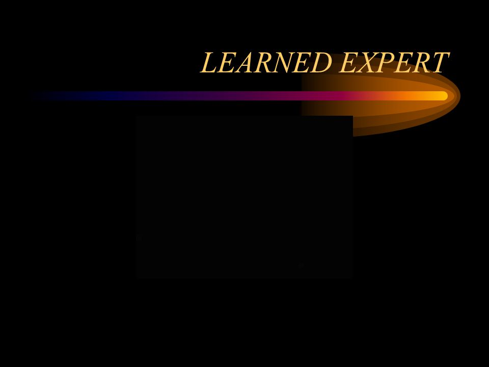 LEARNED EXPERT