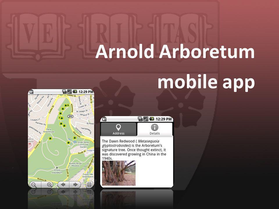 Arnold Arboretum mobile app