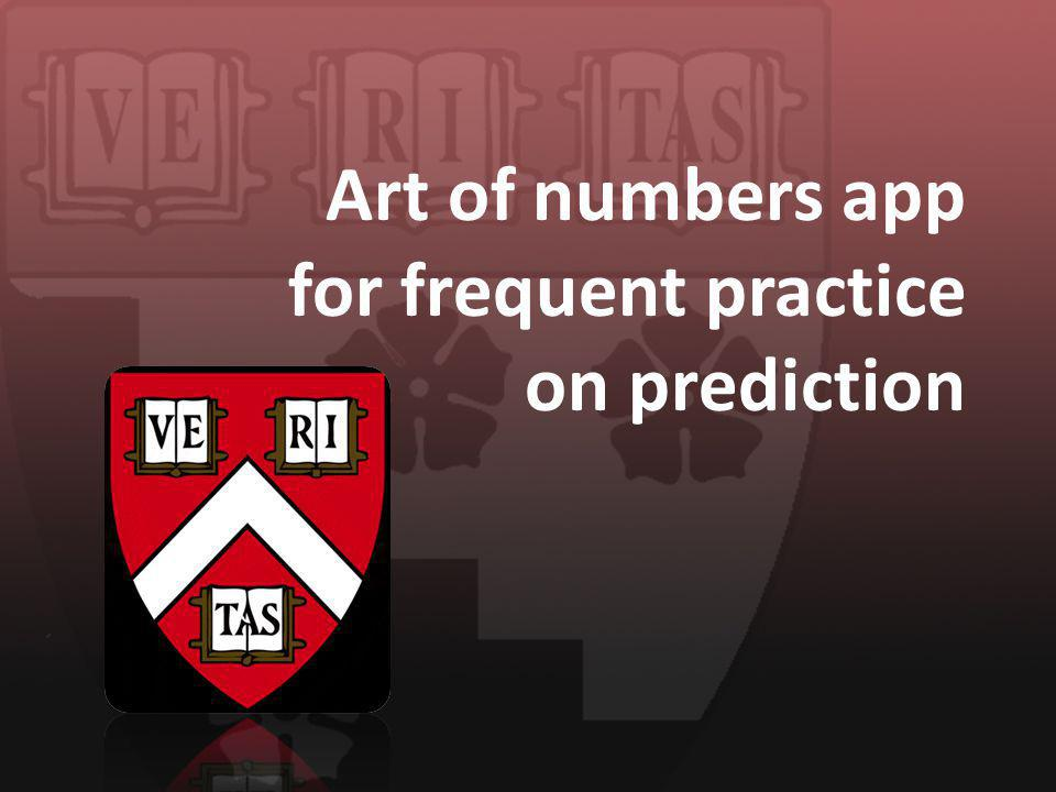 Art of numbers app for frequent practice on prediction
