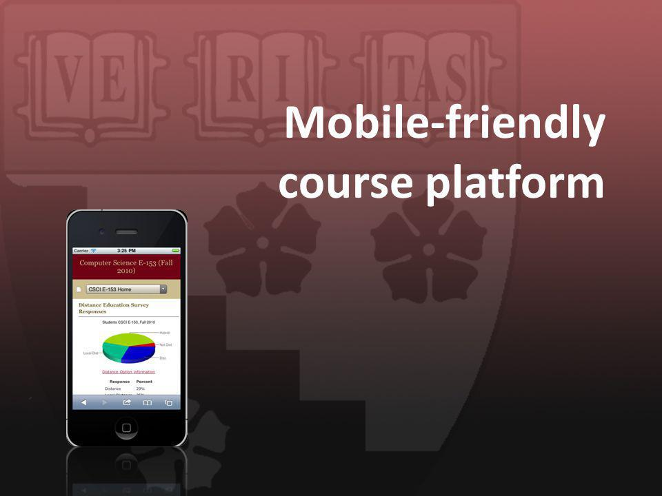 Mobile-friendly course platform
