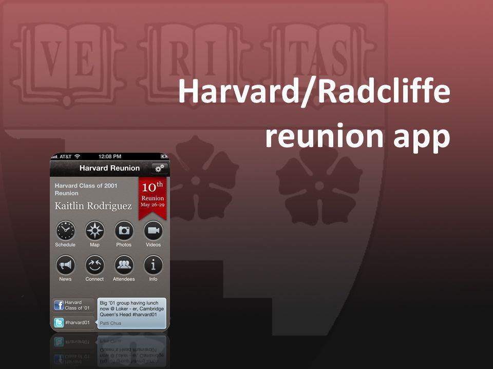 Harvard/Radcliffe reunion app