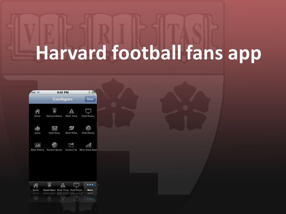 Harvard football fans app