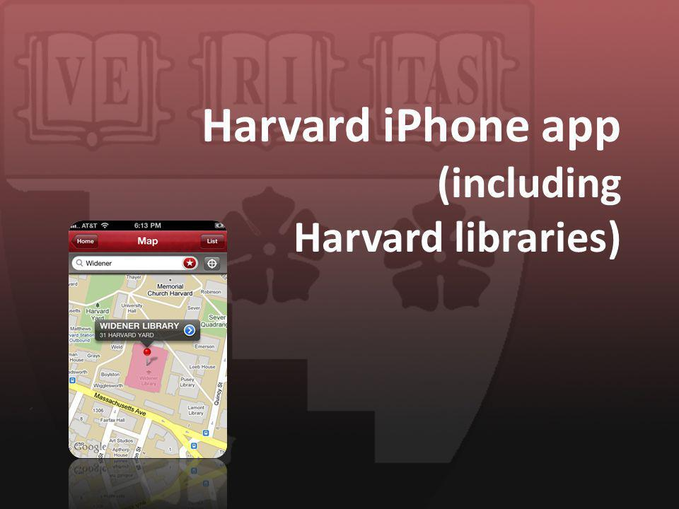 Harvard iPhone app (including Harvard libraries)