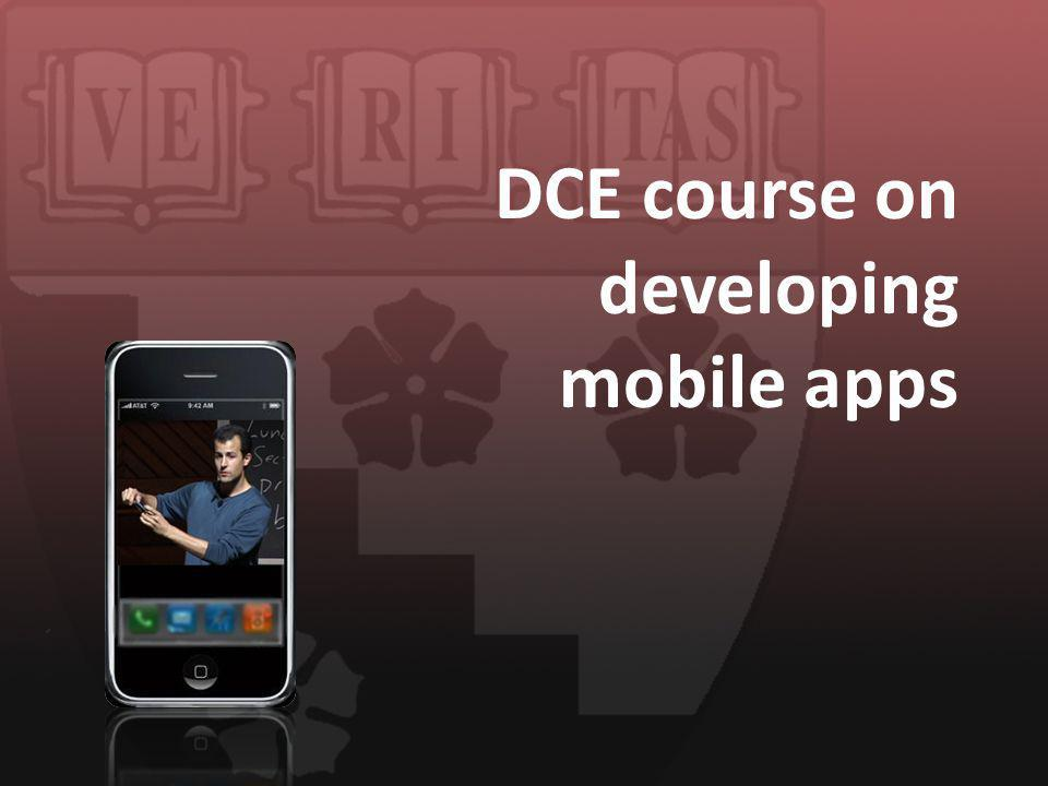 DCE course on developing mobile apps