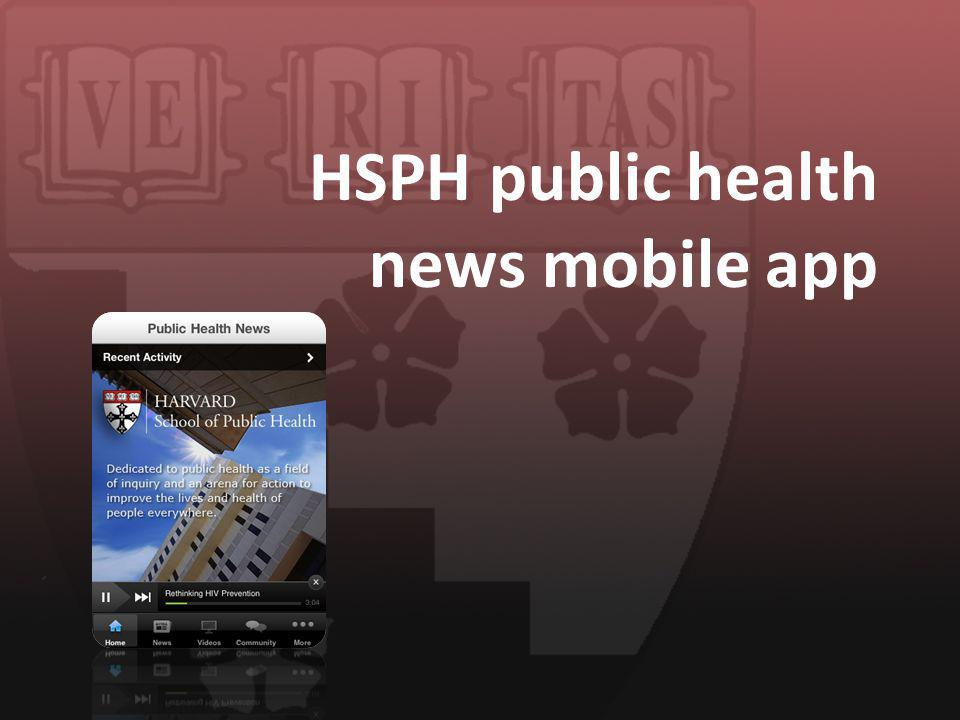 HSPH public health news mobile app
