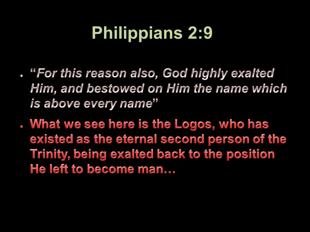Philippians 2:9 72Applied-Apologetics