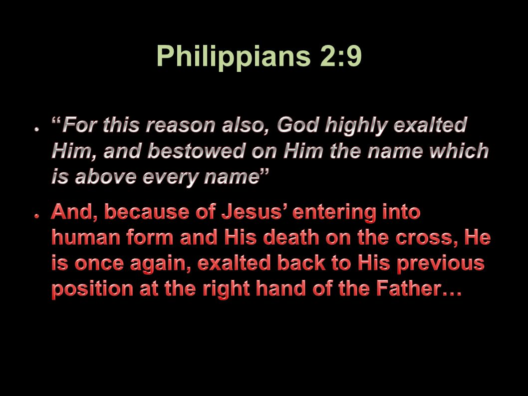 Philippians 2:9 73Applied-Apologetics