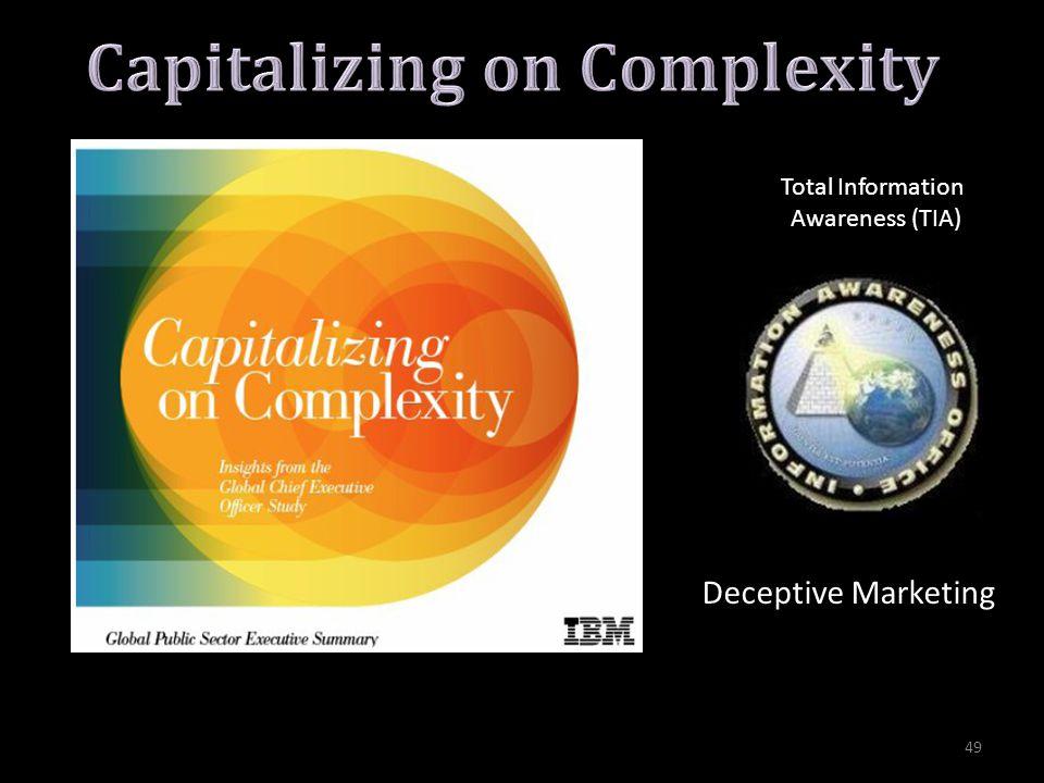 Total Information Awareness (TIA) Deceptive Marketing 49