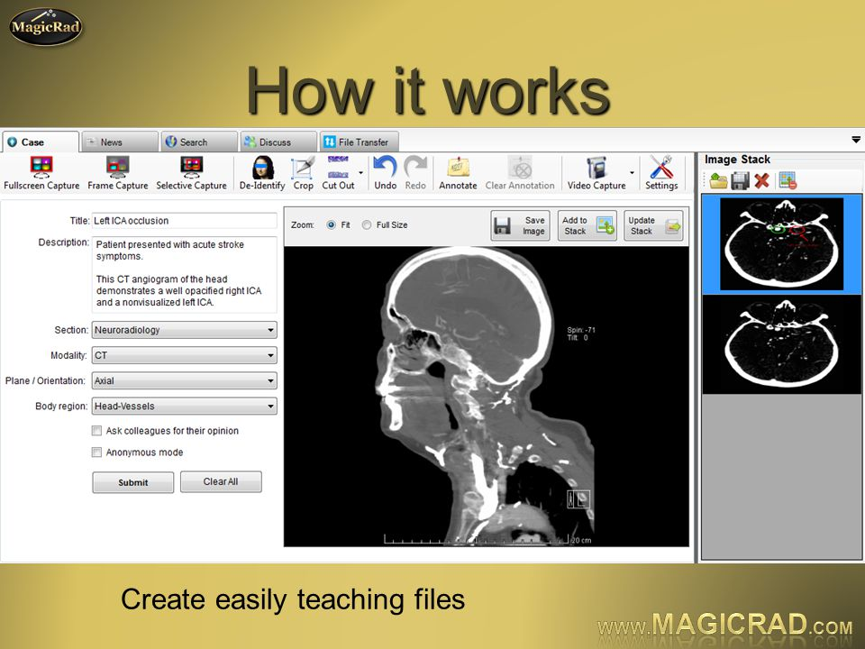How it works Create easily teaching files