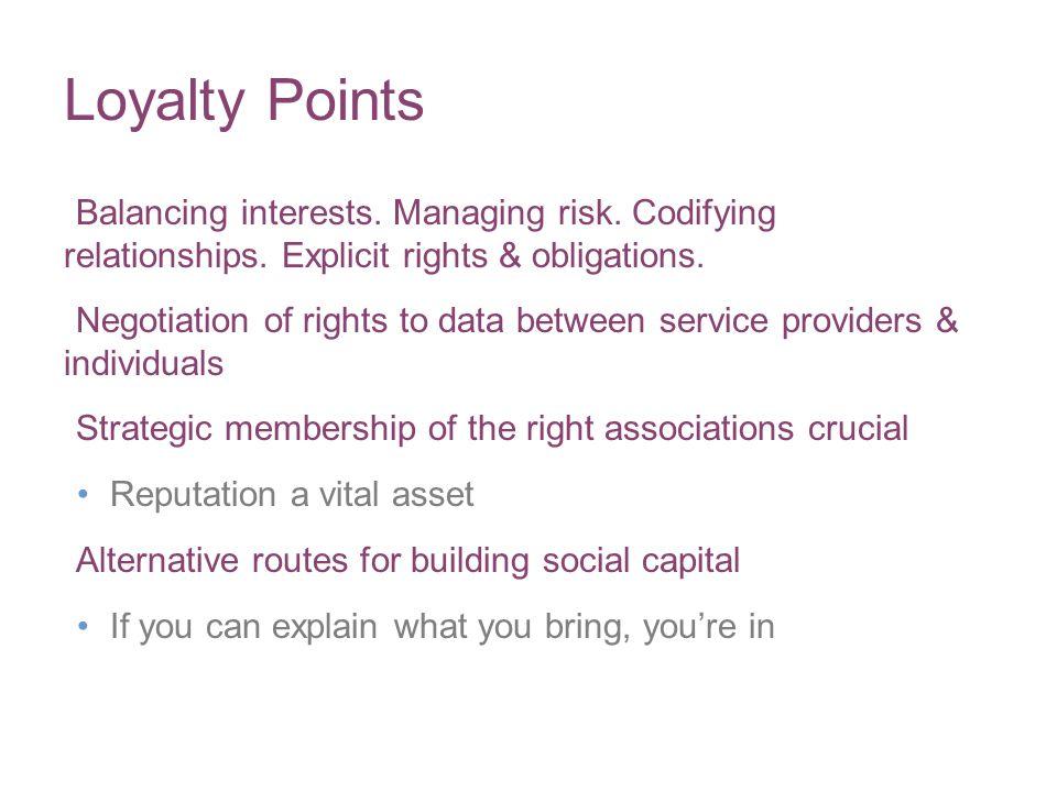 Balancing interests.Managing risk. Codifying relationships.