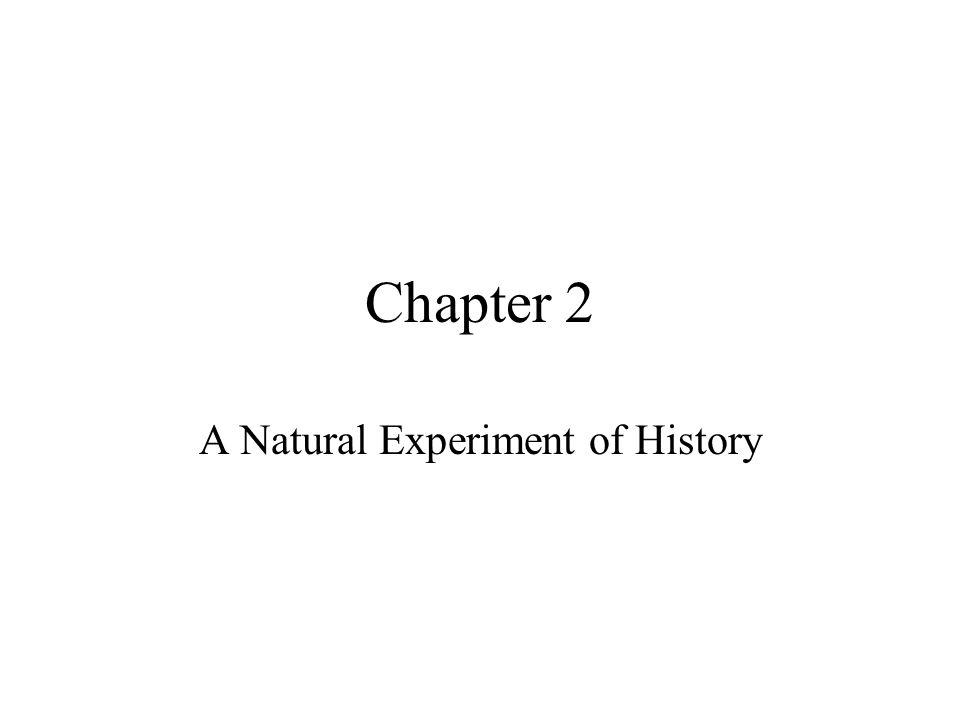 Chapter 2 A Natural Experiment of History