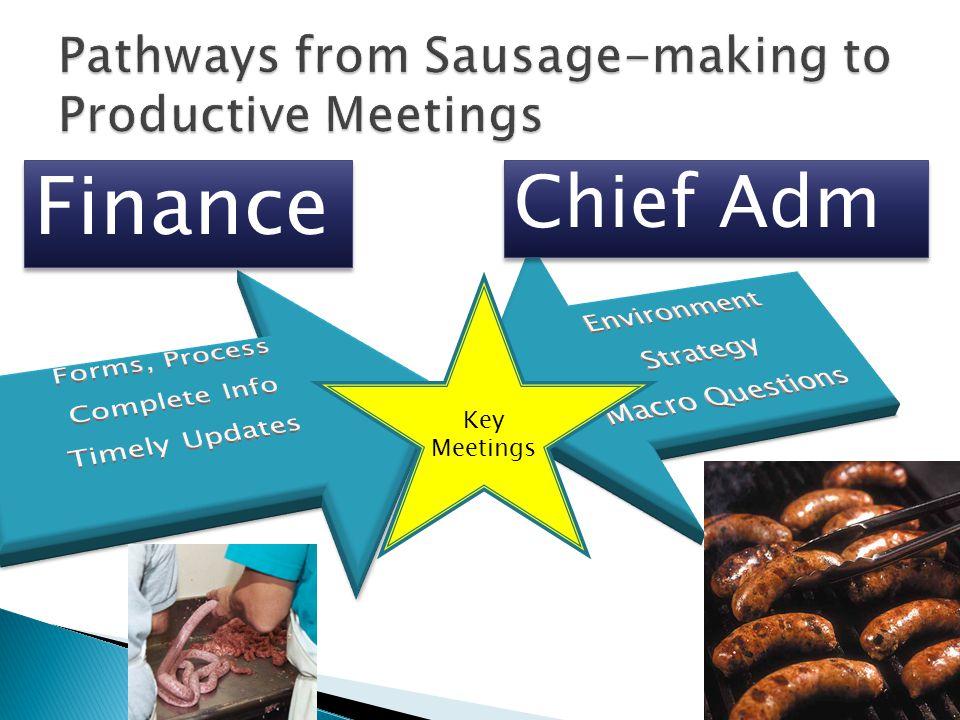 Finance Chief Adm Key Meetings