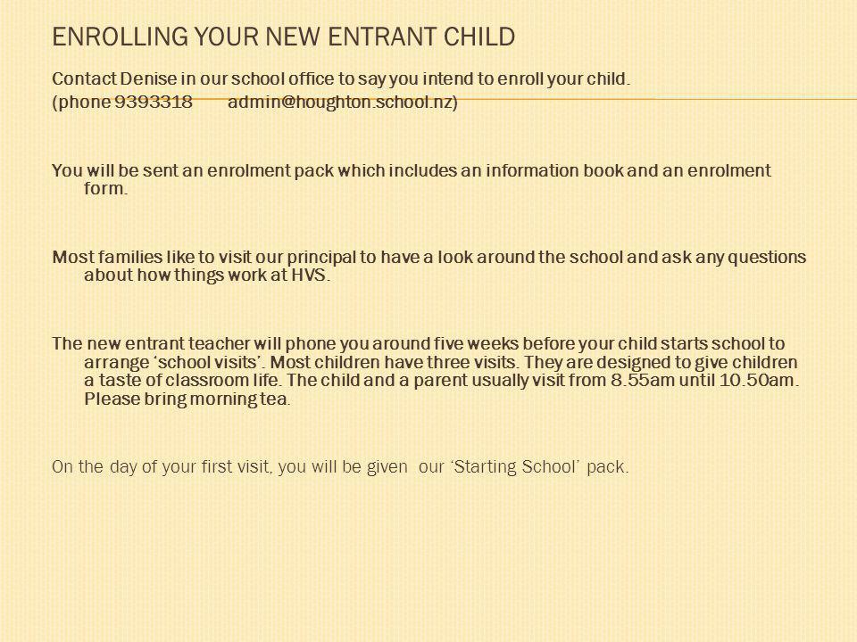 Tena koutou katoa. Welcome to Houghton Valley Schools starting school information site.