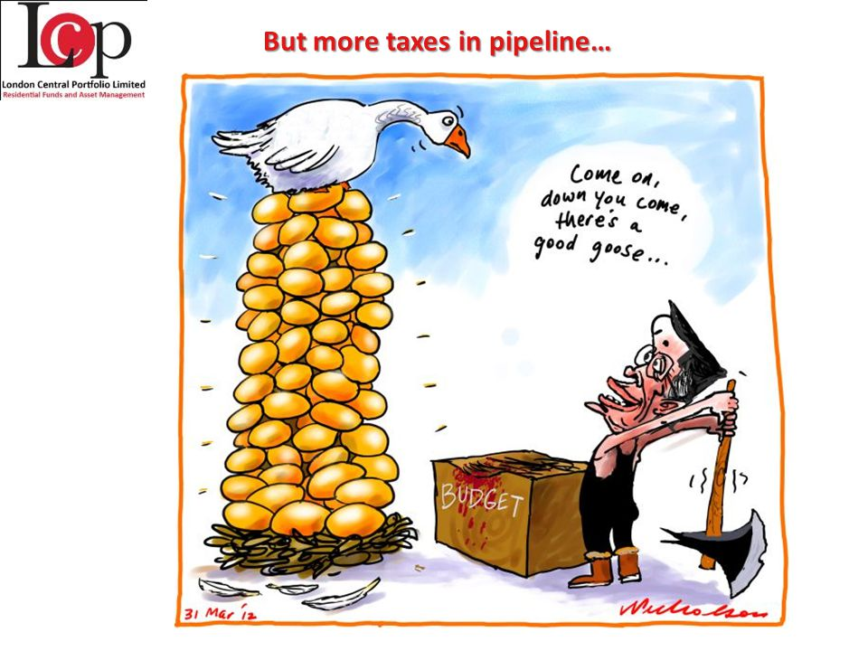 But more taxes in pipeline…