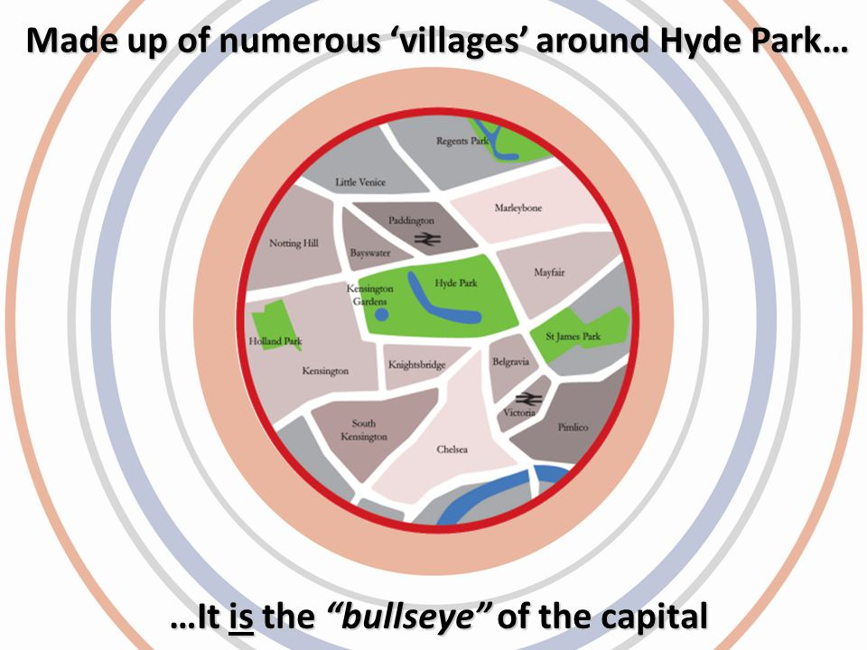 …It is the bullseye of the capital Made up of numerous villages around Hyde Park…