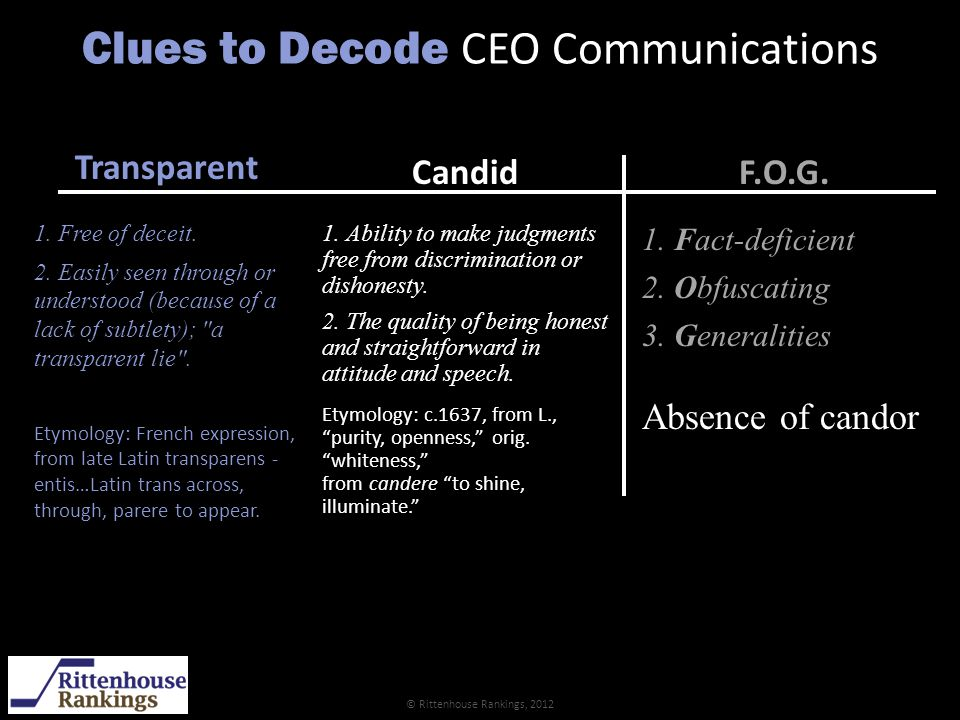 Clues to Decode CEO Communications Candid 1.