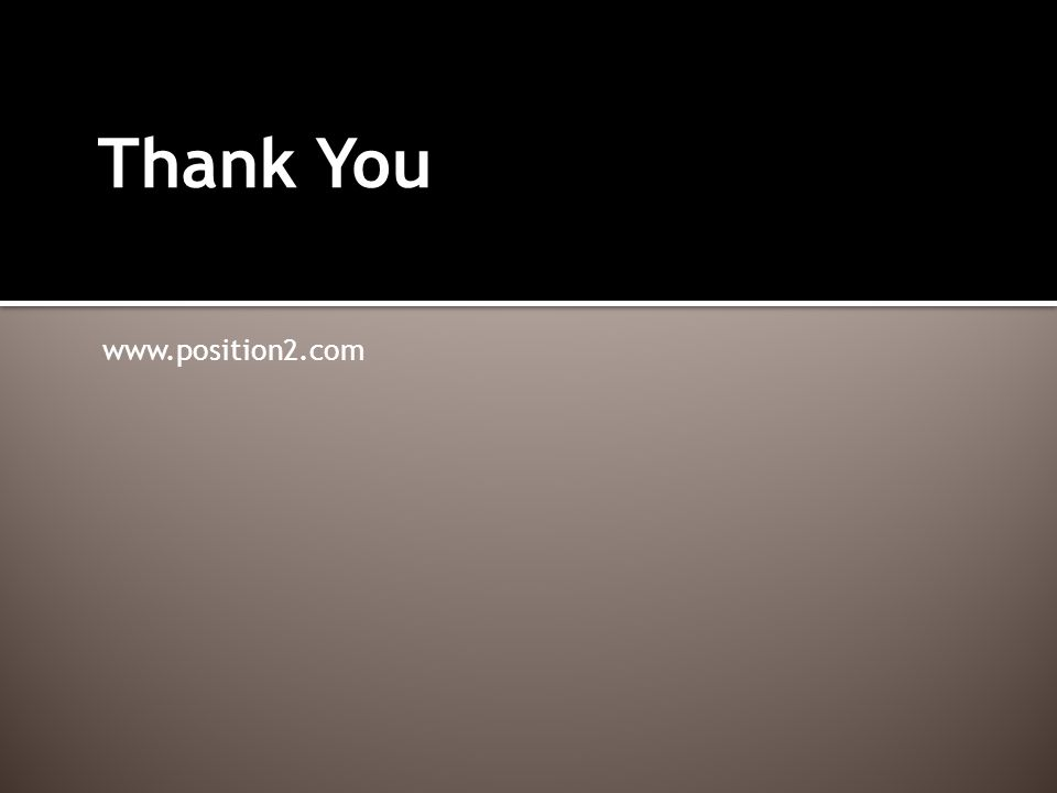 Thank You www.position2.com