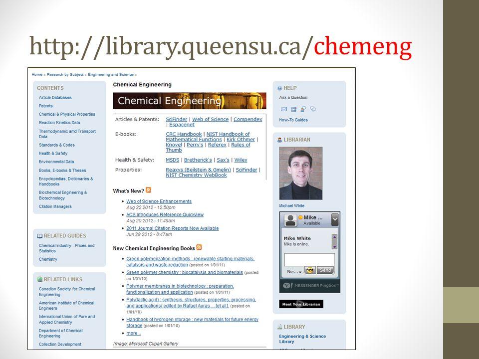 http://library.queensu.ca/chemeng