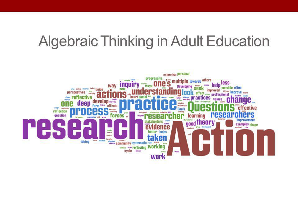 Algebraic Thinking in Adult Education