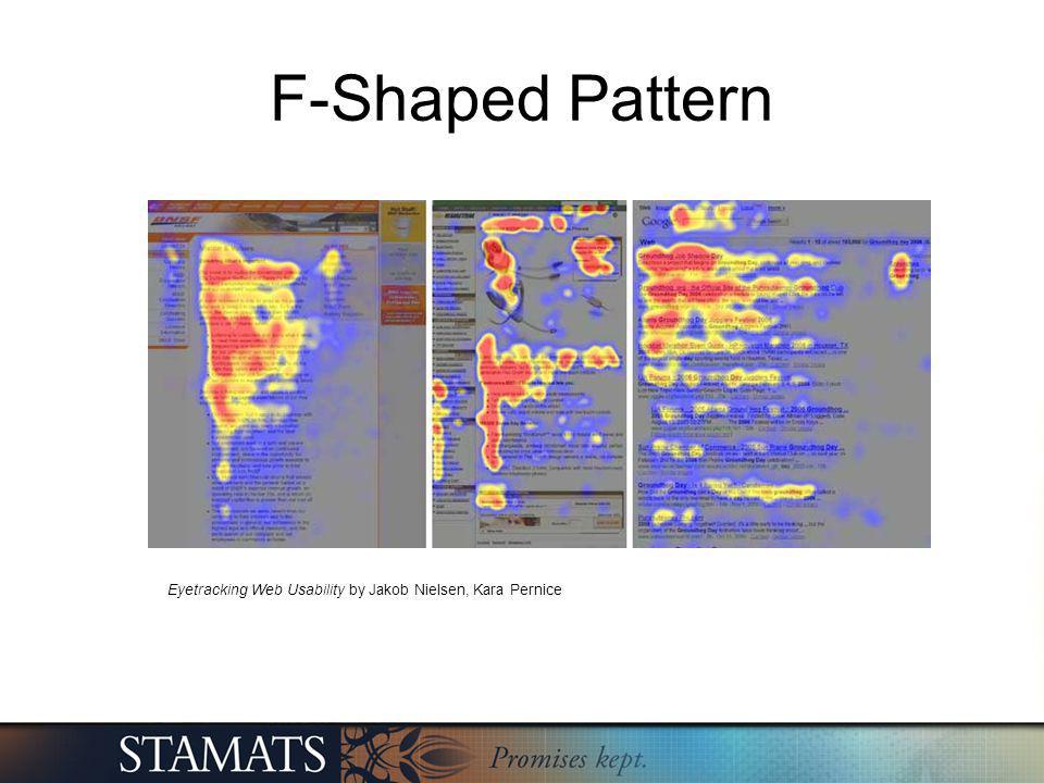 F-Shaped Pattern Eyetracking Web Usability by Jakob Nielsen, Kara Pernice