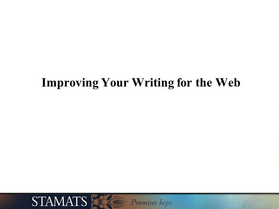 Improving Your Writing for the Web