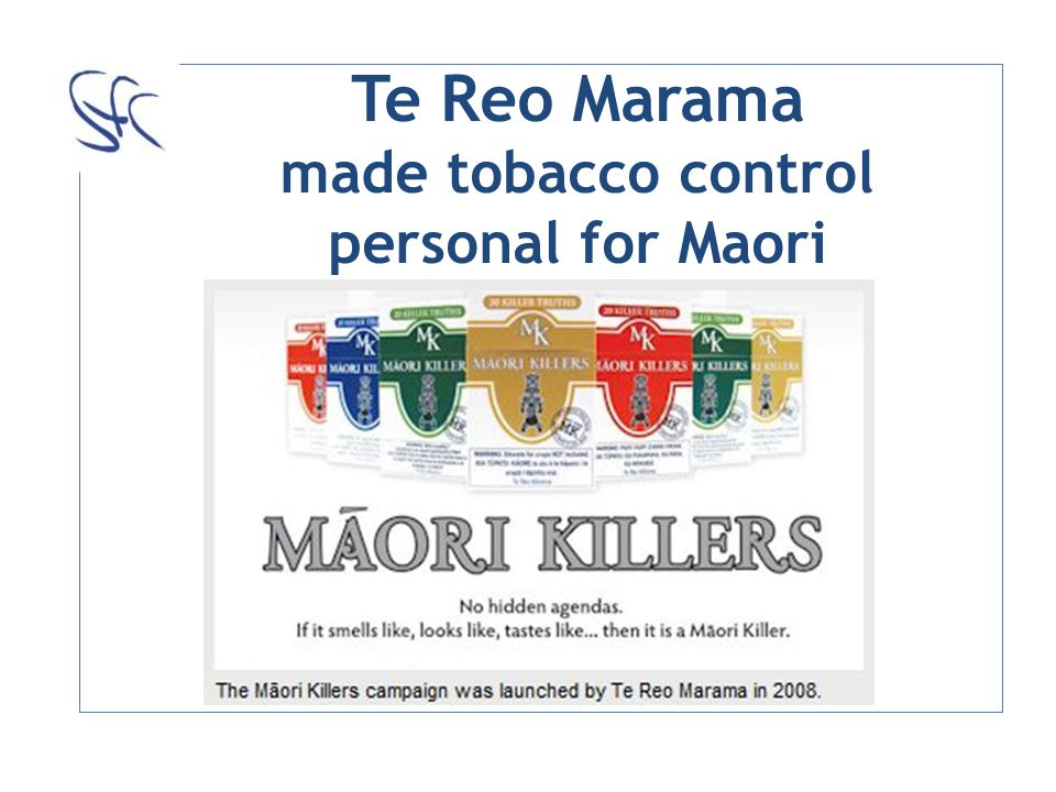 Te Reo Marama made tobacco control personal for Maori