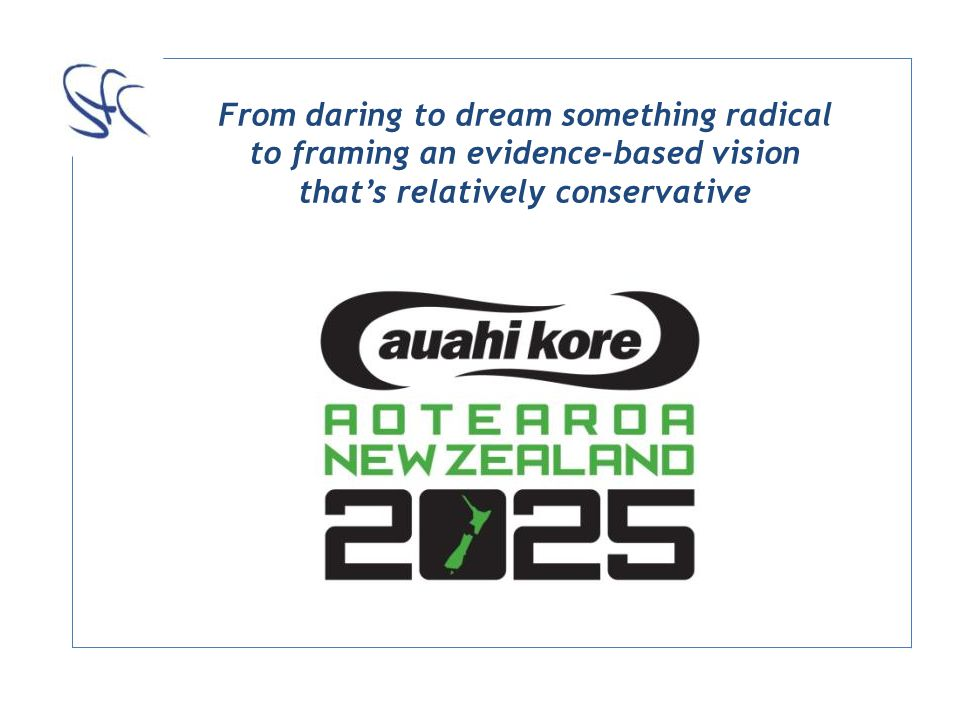 From daring to dream something radical to framing an evidence-based vision thats relatively conservative
