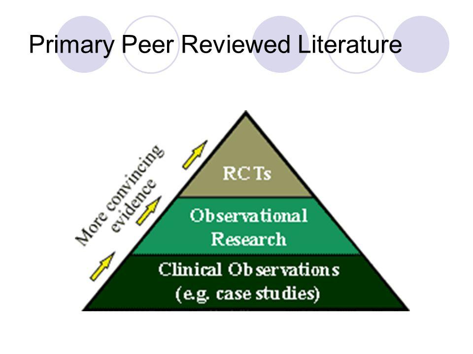 Primary Peer Reviewed Literature