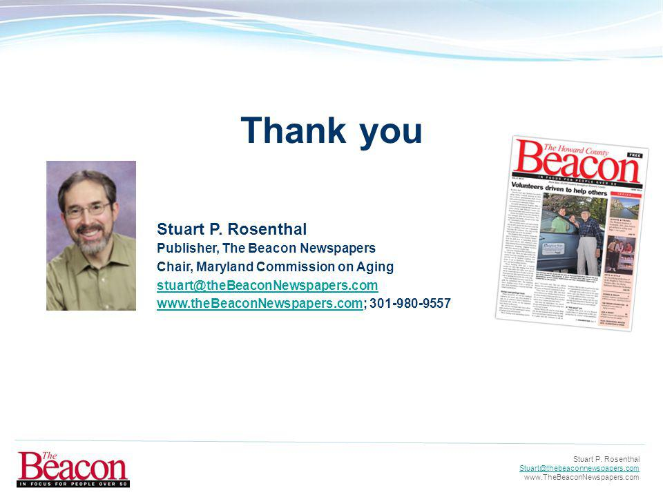 Stuart P. Rosenthal Stuart@thebeaconnewspapers.com www.TheBeaconNewspapers.com Stuart P.