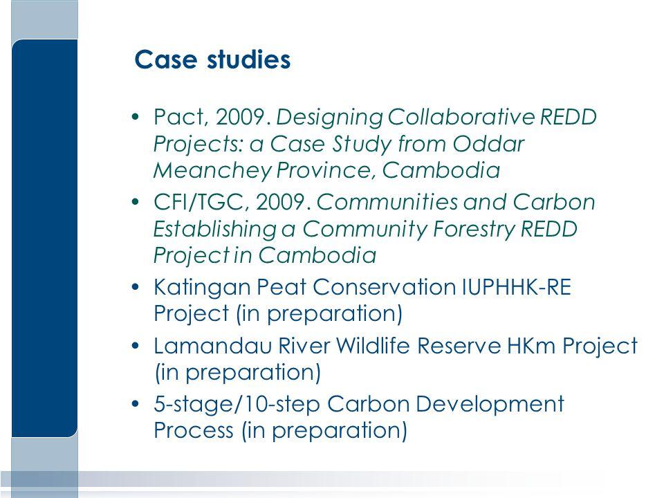Case studies Pact, 2009.