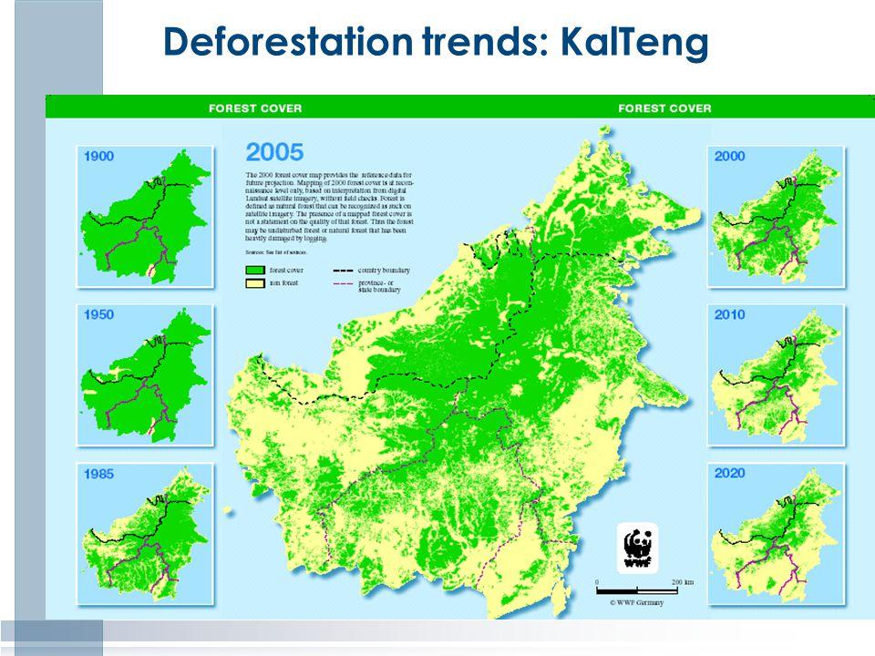 Deforestation trends: KalTeng