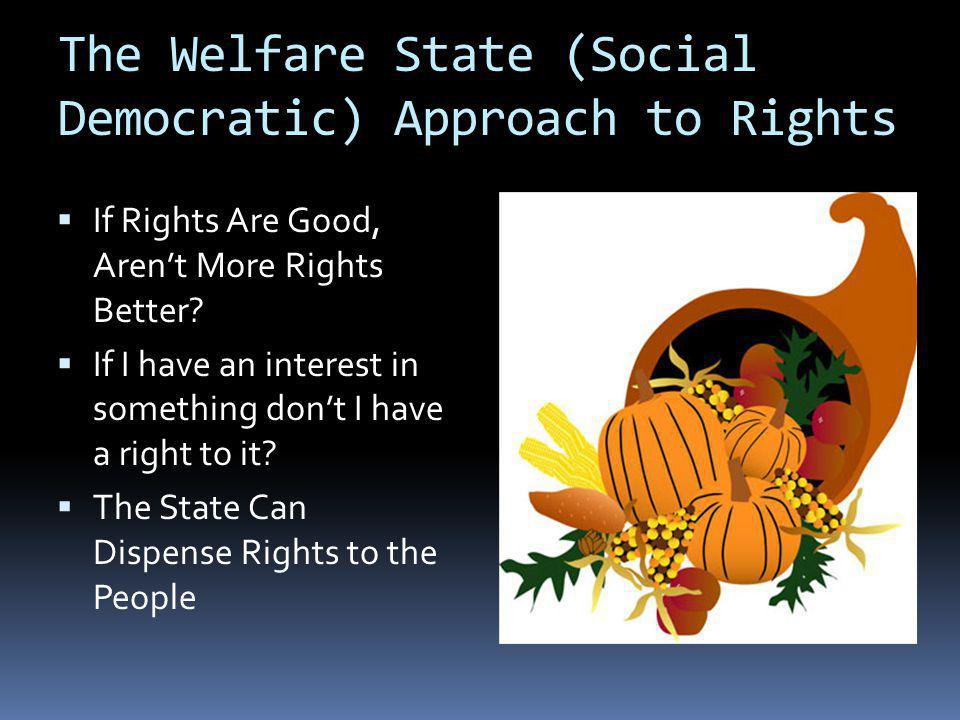If Rights Are Good, Arent More Rights Better? If I have an interest in something dont I have a right to it? The State Can Dispense Rights to the Peopl