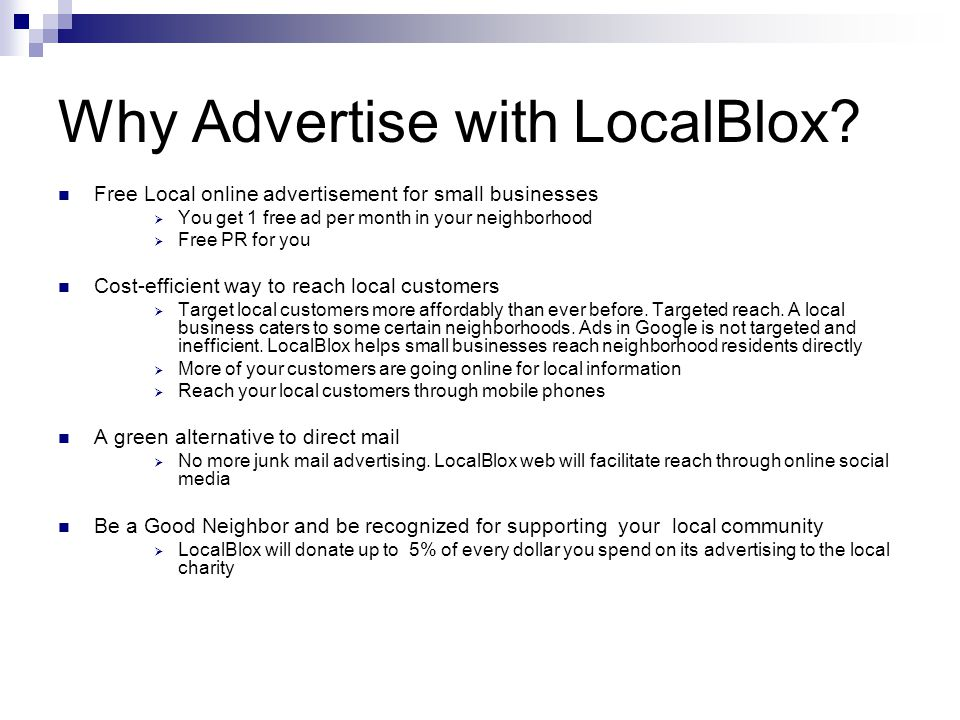 Why Advertise with LocalBlox.
