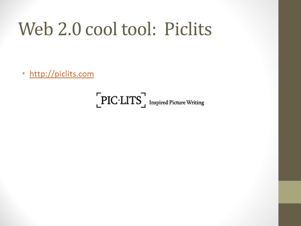 Web 2.0 cool tool: Piclits http://piclits.com