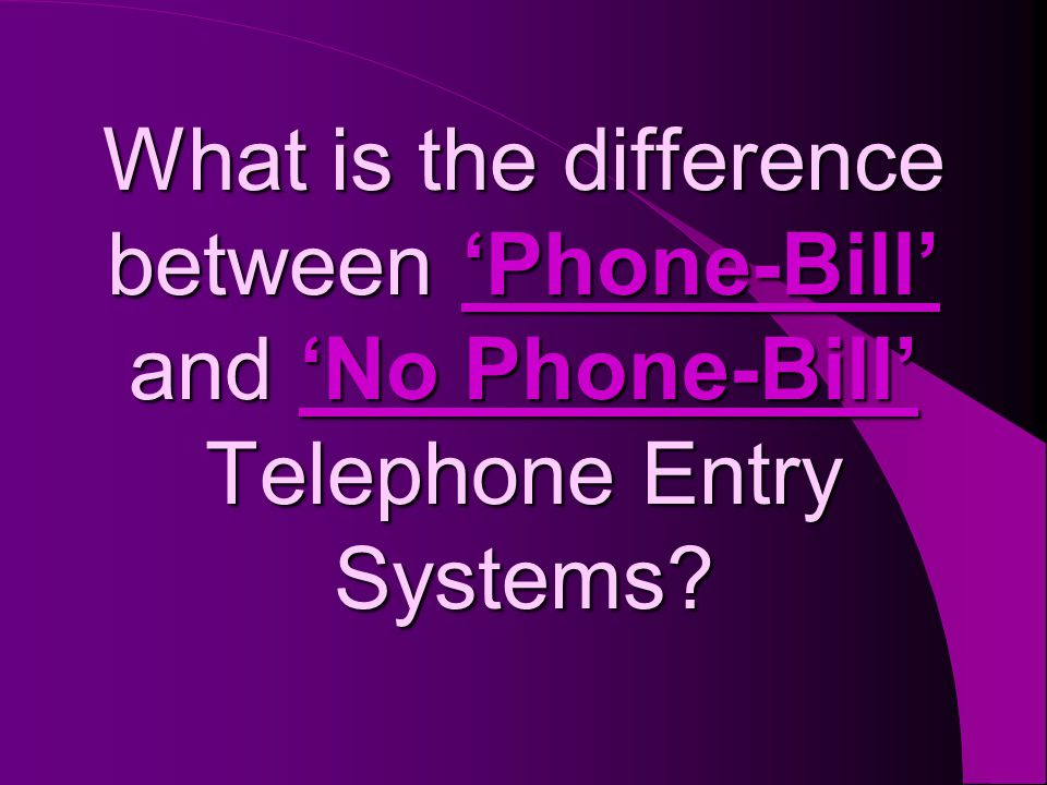 A Phone-Bill (a.k.a.