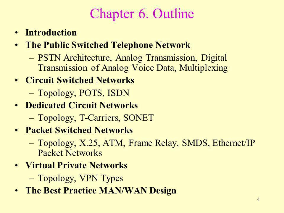 45 Broadband ISDN Broadband ISDN (B-ISDN) is a circuit-switched service that uses ATM to move data.