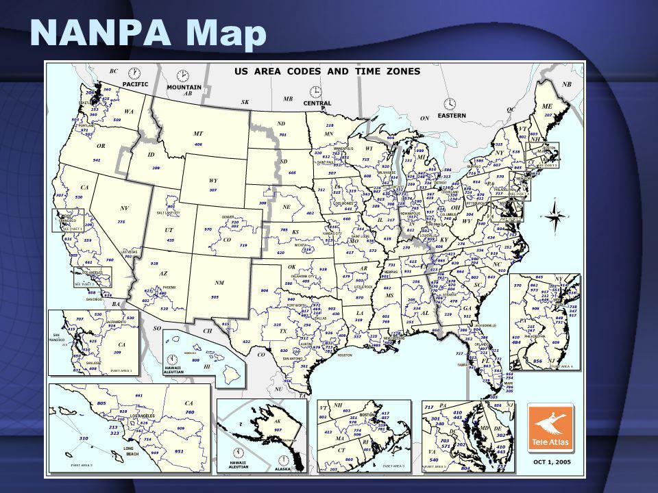 NANPA Map