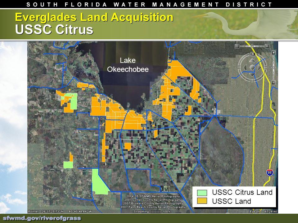 Everglades Land Acquisition USSC Citrus USSC Citrus Land USSC Land USSC Citrus Land USSC Land Lake Okeechobee
