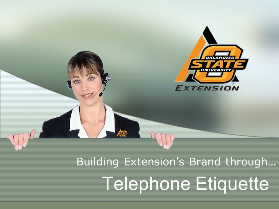Telephone Etiquette Building Extensions Brand through…